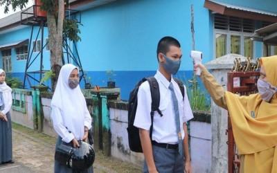 SMA Negeri 1 Manggar Mulai Lakukan KBM Tatap Muka di Masa Pandemi, Begini Suasananya