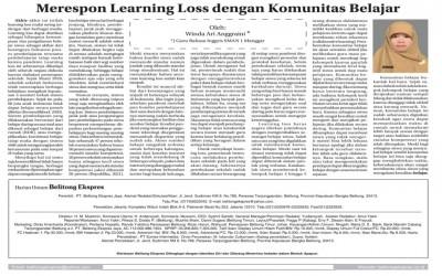 Merespon Learning Loss dengan Komunitas Belajar