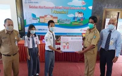 Bulan Inklusi Keuangan OJK RI 2020, Bupati Yuslih Ihza Ajak Pelajar Belitung Timur Menabung