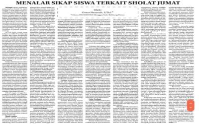 MENALAR SIKAP SISWA TERKAIT SHOLAT JUMAT  DI MASA WABAH COVID-19